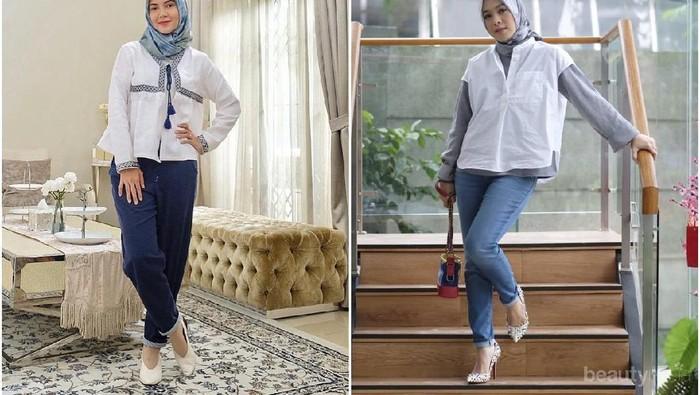 Adu Gaya Hijab Ratna Galih dan Dian Ayu Lestari yang Sering Disangka Kembar