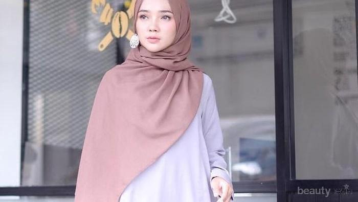 Lagi Jadi Warn Kekinian, Padu Padan Hijab Warna Mocca Ini Bikin Wajah Lebih Cerah