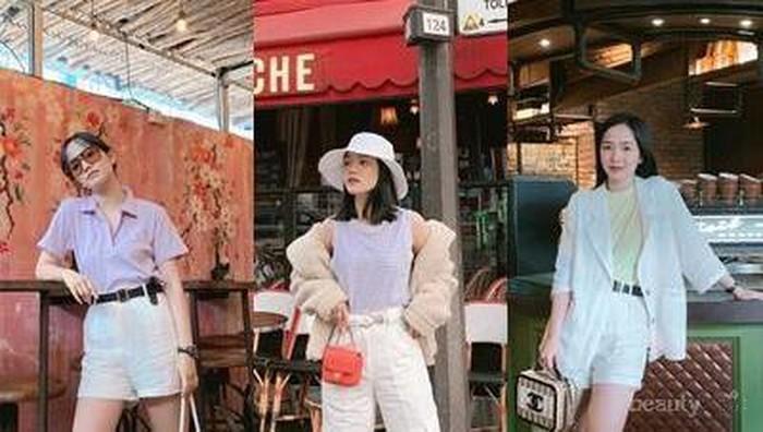 Ide Kece Mix & Match Bawahan Warna Putih ala Influencer Elxi Elvina