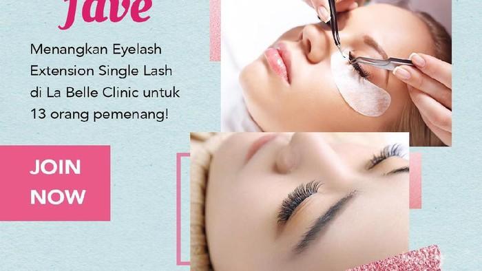 Eyelash Extension Gratis di La belle Clinic dari Fave Untuk Kamu! Intip Cara Joinnya Yuk, Ladies!