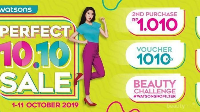 Watsons Gelar Perfect 10.10 Sale, Produk Kecantikan Diskon Hingga 70%