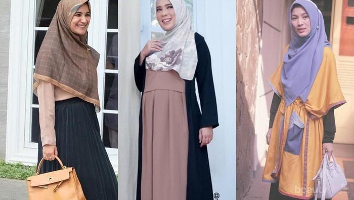 Model Gamis Terbaru ala Artis Indonesia Saat Hari Raya Idul Adha