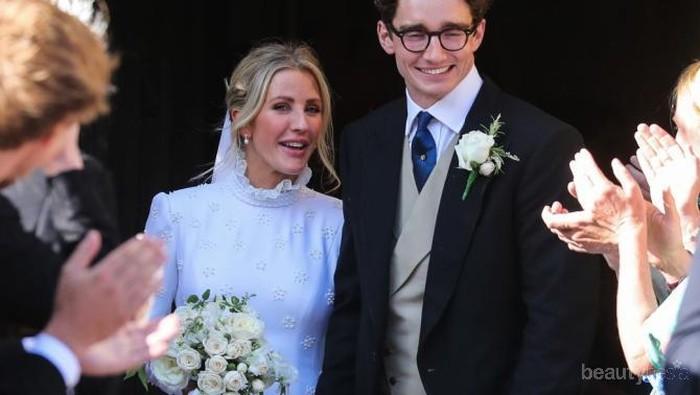 Makan Waktu 640 Jam, Gaun Pengantin Ellie Goulding Bak Gaun Royal Wedding