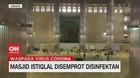 VIDEO: Masjid Istiqlal Disemprot Disinfektan