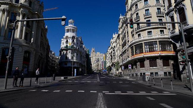Pemerintah ibu kota Madrid, Spanyol, pada Senin (21/9) kembali memberlakukan lockdown untuk menahan lonjakan kasus Covid-19.