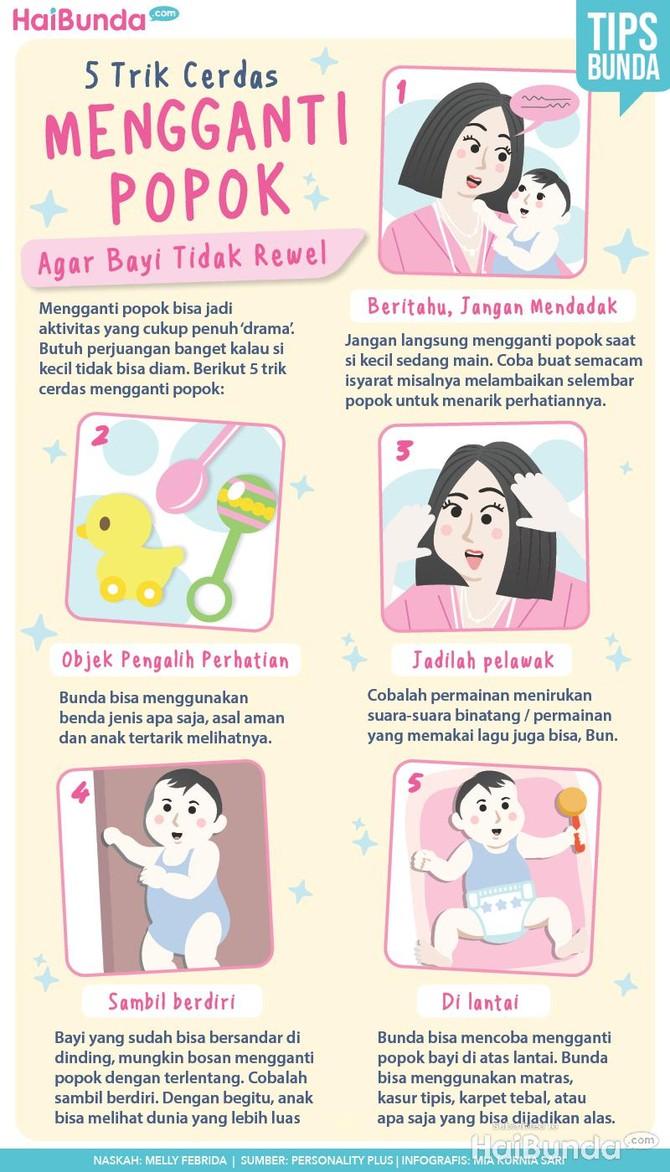 Trik Cerdas Ganti Popok Agar Bayi Tidak Rewel