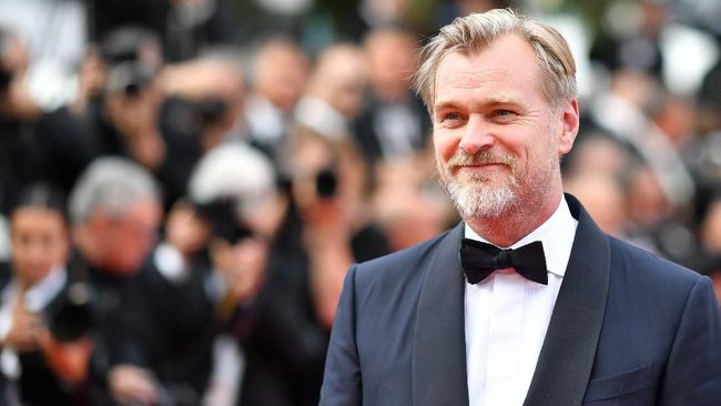 British director Christopher Nolan arrives on May 13, 2018 for the screening of a remastered version of the film