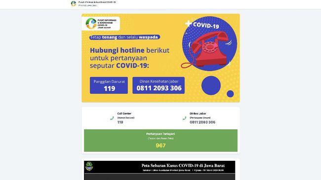 Pemprov Jawa Barat di bawah Ridwan Kamil meluncurkan situs soal virus corona menyusul langkah DKI Jakarta di bawah Anies Baswedan.