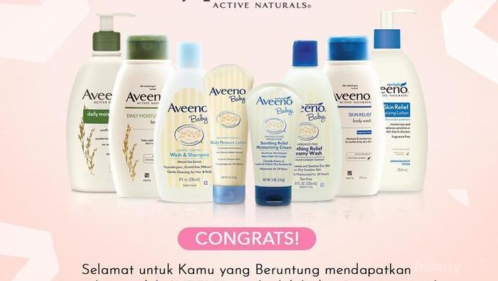 [GIVEAWAY ALERT] 19 Winner Giveaway Aveeno, Intip Disini Ladies!