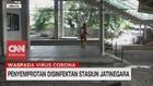 VIDEO: Penyemprotan Desinfektan di Stasiun Jatinegara