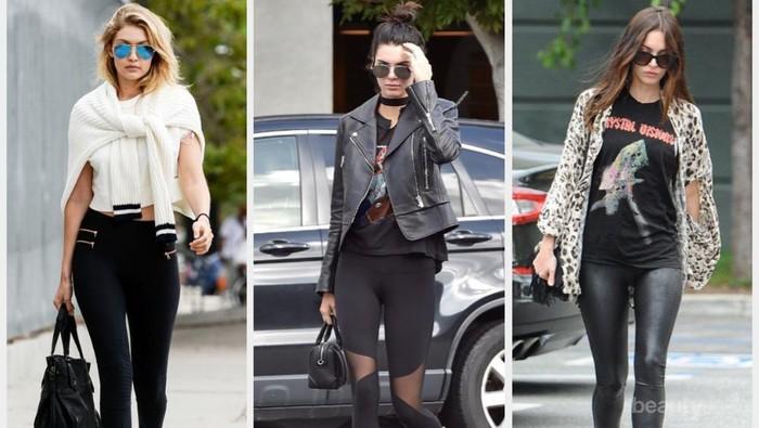 Jangan Minder Ini Mix And Match Style Celana Legging Ala Seleb Dunia Yang Kece