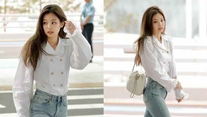 Selalu Tampil Cantik dan Fashionable! Intip Yuk Keseharian Jennie Blackpink Disini