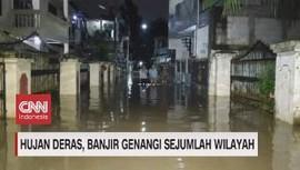 VIDEO: Hujan Deras, Sejumlah Wilayah di Jakarta Banjir