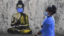 FOTO: Virus Corona dalam Goresan Seni Jalanan