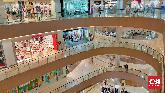 Imbauan bekerja di rumah untuk mencegah penyebaran virus corona membuat pusat perbelanjaan di Bekasi sepi.