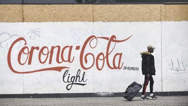 Foto Virus Corona Dalam Goresan Seni Jalanan