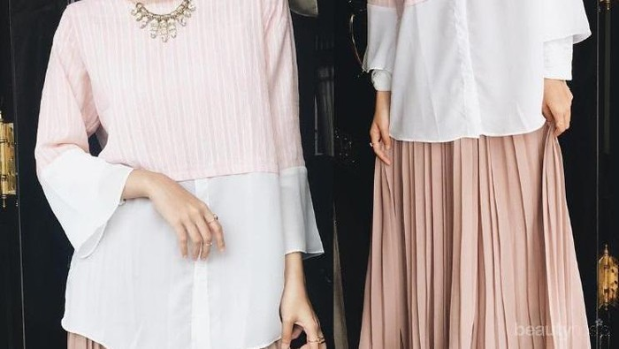 Yuk, Tampil Lebih Feminin Kasual dengan Tiru Padu Padan Hijab dan Rok Ini!