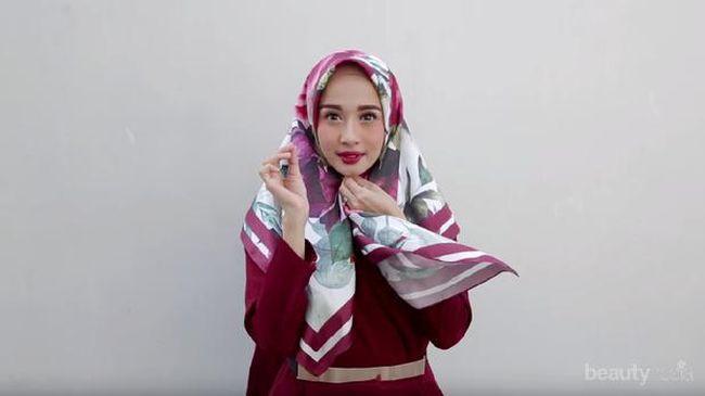 Tutorial Hijab Satin Untuk Pesta Ala Vlogger Yang Bikin Kamu Makin Mempesona