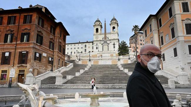 Italia telah menutup sekolah dan universitas sejak 5 Maret hingga 3 April, namun kebijakan itu diperpanjang mengingat jumlah kasus Covid-19.