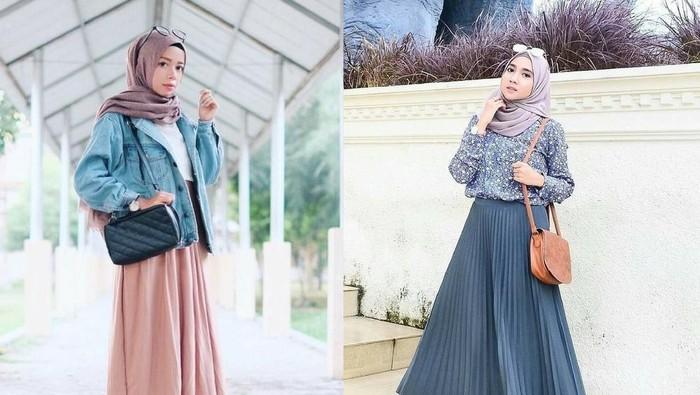 Ini Dia Tips Padu Padan Rok Panjang Hijab untuk Kamu yang Bertubuh Kecil