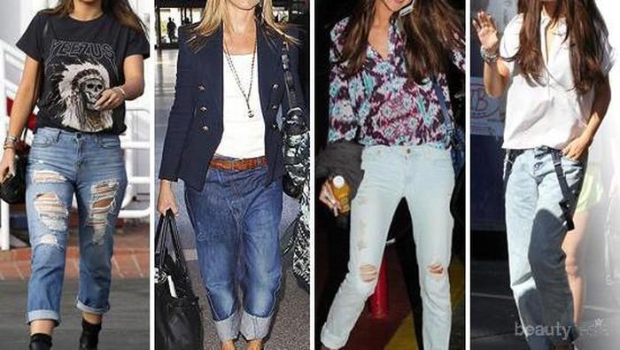 Coba Berbagai Gaya Boyfriend Jeans ala Artis Hollywood Ini agar Kamu Tambah Keren!
