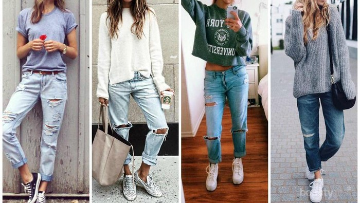 Jangan Asal Pakai, Ini Dia Do's & Don'ts untuk Kombinasi Boyfriend Jeans & Sneakers!