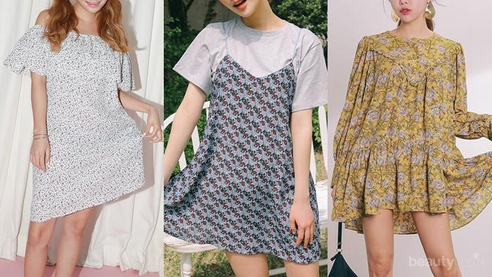 Tiru 4 Gaya Fashion Floral Dress ala Selebriti Korea Ini Yuk!