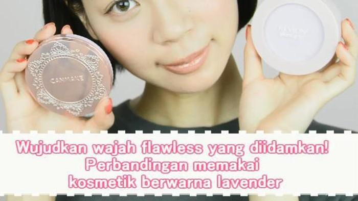 Wujudkan wajah flawless yang diidamkan! Perbandingan memakai kosmetik berwarna lavender