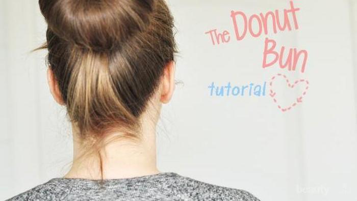 Cara Mudah Membuat Cepolan Rambut dengan Donut Bun