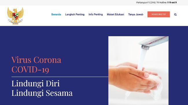 Gugus Tugas Penanganan Corona yang dibentuk Jokowi dan dipimpin Ketua BNPB Doni Monardo akhirnya meluncurkan situs terkait virus corona di Indonesia.