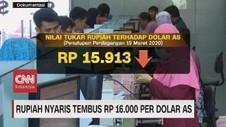 VIDEO: Rupiah Nyaris Tembus Rp 16 Ribu Per Dolar AS