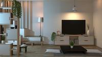 Furnitur rendah, seperti meja pendek bisa diletakkan di ruang keluarga, Bun. Jangan lupa letakkan bantal duduk ya. (Foto: iStock)