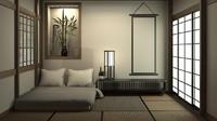 Di kamar tidur rumah minimalis gaya Jepang, Bunda juga bisa menambahkan tanaman di sudut ruangan. (Foto: iStock)