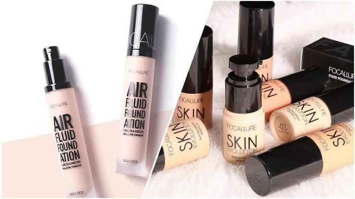 Perbedaan Air Fluid Foundation dan Skin Evolution Foundation Focallure