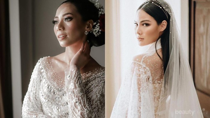 Hasil Makeup Sendiri Vinna Gracia dan Abel Cantika di Hari Pernikahan, Lebih Suka Mana?