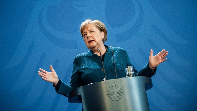 Angela Merkel Desak AS Ekspor Vaksin Corona