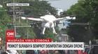 VIDEO: Pemkot Surabaya Semprot Disinfektan dengan Drone