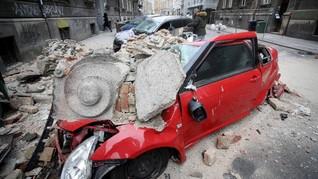FOTO: Kroasia Diguncang Gempa Terparah dalam 140 Tahun
