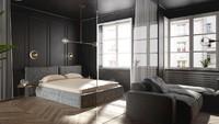<p>Konsep monokrom adalah memadukan warna abu-abu, hitam, atau putih dalam satu ruangan kamar tidur. (Foto: iStock)</p>