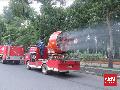 Cegah Corona, Jalan di Berbagai Daerah Disemprot Disinfektan