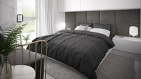 <p>Bila menggunakan dua warna, maka pencahayaan di kamar tidur perlu diperhatikan ya, Bun. (Foto: iStock)</p>
