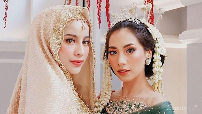 Cantiknya Abel Cantika dan Aghnia Punjabi dengan Riasan Pengantin Tradisional
