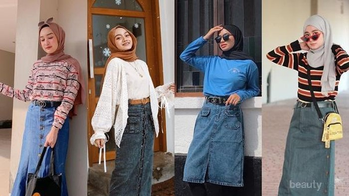 7 Ide Mix and Match Rok Denim Hits Tahun 2020 ala Fashion Influencer