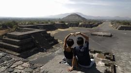 Turis Berbondong-bondong Kunjungi Kota Dewa Teotihuacan