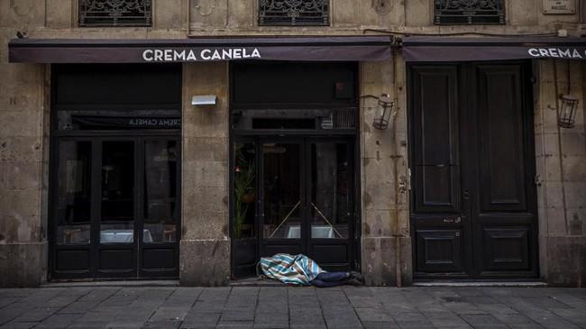 Para tunawisma di Spanyol menjadi kelompok yang rentan tertular virus corona.