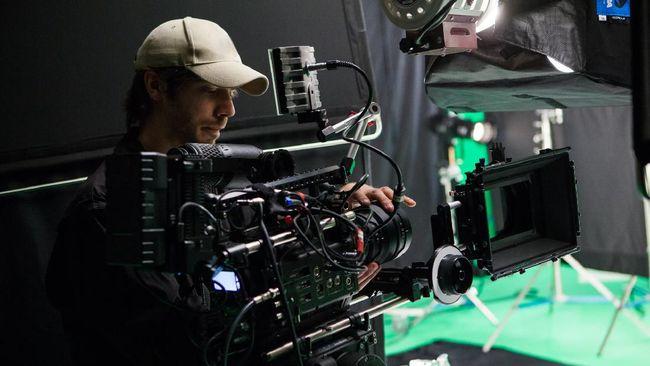Film crew on set.