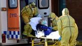 Jumlah korban meninggal di Spanyol akibat infeksi virus corona mencapai 7.716 orang.