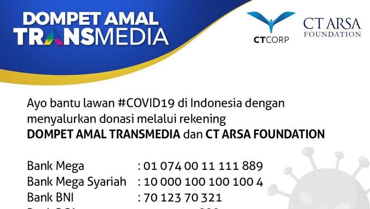 Donasi Bersama Transmedia dan CT ARSA Foundation untuk Tenaga Medis