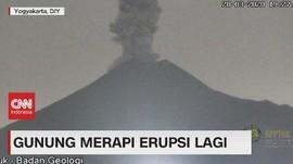 VIDEO: Merapi Erupsi Lagi, Hujan Abu Landa Magelang