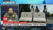 VIDEO: Lockdown Kota Tegal Diberlakukan Mulai Jam 12.00-24.00